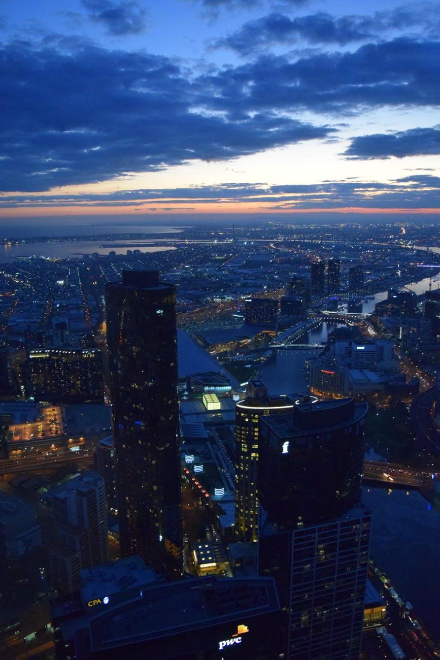 buildings city city lights cityscape